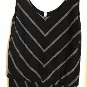 Elan Dresses - Maxi black and gray dress